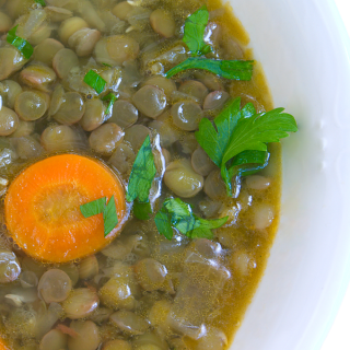 Grandma's Good Luck Lentil Soup