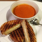 Italian Soup & Sammie – Roasted Red Pepper, Tomato & Smoked Gouda Soup with a Grilled Provo!