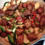 An Italian Concoction of Sorts (Zucchini, Potato and Italian Sausage)